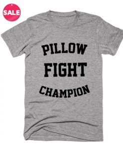 Pillow Fight Champion T-shirts Funny Tees