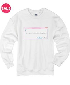 Delete All Emotion Custom Sweater