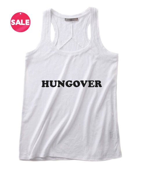 Hungover Logo Funny Tank Top