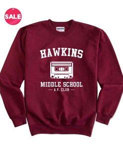 Hawkins Middle School AV Club Sweater Funny Sweatshirt