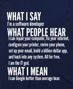 Navy Blue 8 247x300 What I Say I'm Software Developer Custom Hoodies Quote