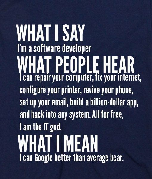 Navy Blue 8 510x599 What I Say I'm Software Developer Custom Hoodies Quote