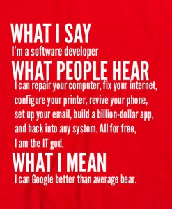 Red 8 247x300 What I Say I'm Software Developer Custom Hoodies Quote