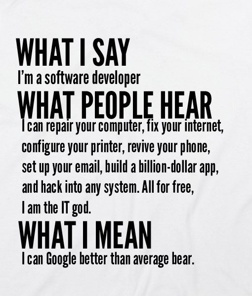 White 8 510x599 What I Say I'm Software Developer Custom Hoodies Quote