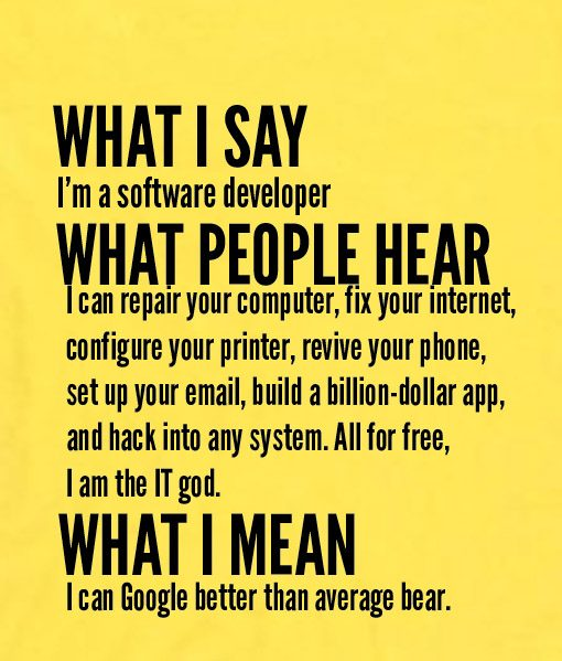 yellow 8 510x599 What I Say I'm Software Developer Custom Hoodies Quote