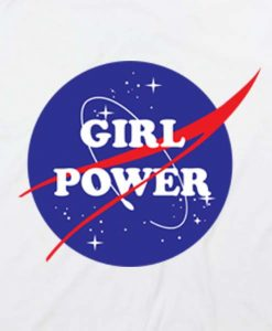White 19 247x300 Girl Power Nasa Tank Top