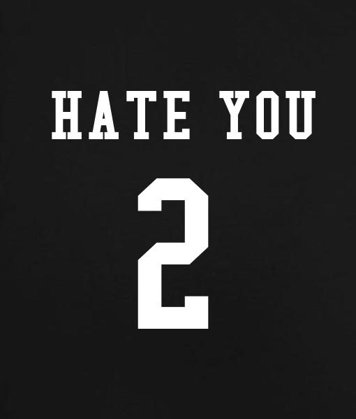 Black 4 510x599 Hate You 2 Tank Top