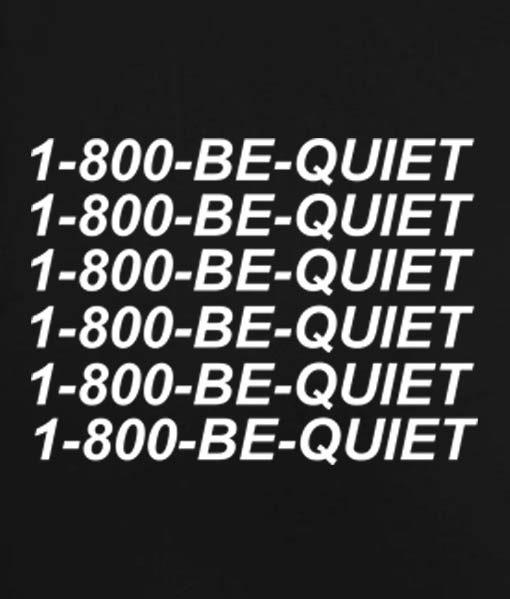 Black 8 510x599 1 800 Be Quiet Tank Top