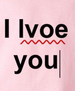 Pink 2 247x300 I Love You Typo Tank Top