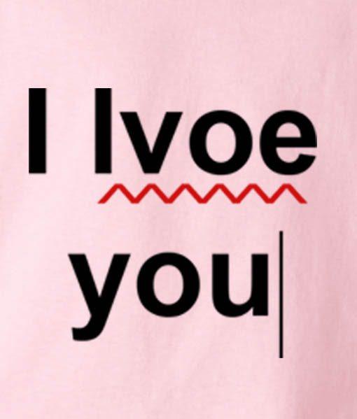Pink 2 510x599 I Love You Typo Tank Top
