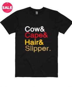 Cow Cape Hair Slipper T-Shirt