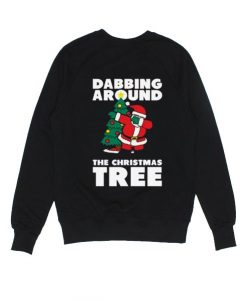 Dabbing Around The Christmas Tree Sweater