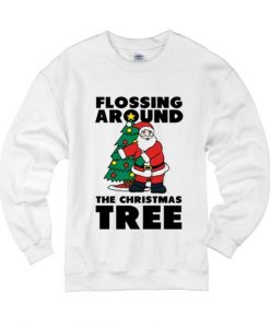 Flossing Around The Christmas Tree Sweater