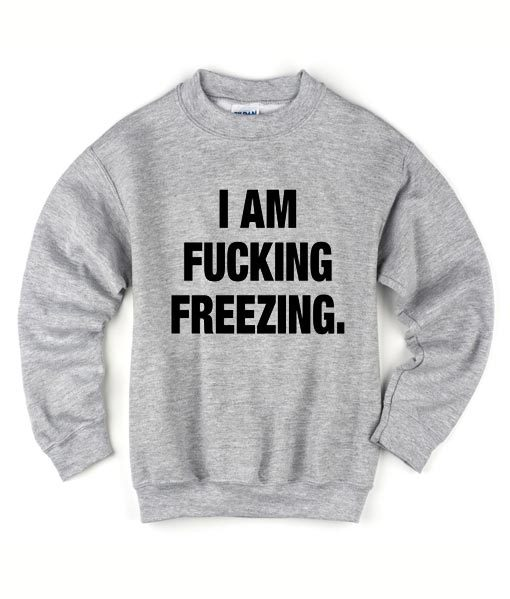 I Am Fucking Freezing Sweater