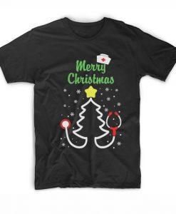 Nursing Christmas Tree T Shirt
