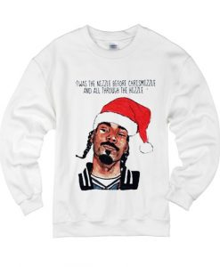 Snoop Dogg Christmas Twas The Nizzle Before Chrismizzle And All Through The Hizzle Sweater