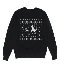 T-rex Reindeer Sweater