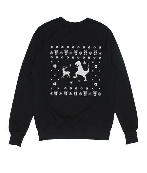 T-rex Reindeer Sweater