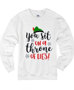 You Sit on a Throne of Lies Christmas Elf Sweater