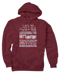 Greys Anatomy Quotes Custom Hoodies Quote