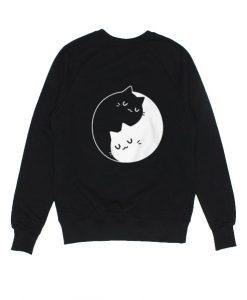 Ying Yang Cats Sweater