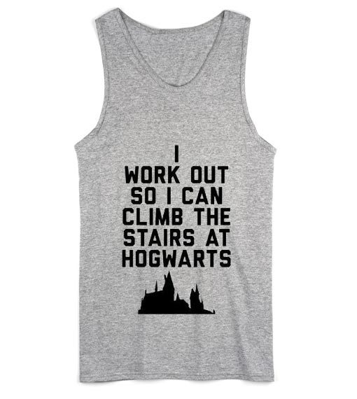 I Work Out So I Can Climb the Stairs at Hogwarts Summer Tank top