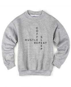 Coffee Hustle Sleep Repeat Sweater
