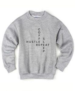 Coffee Hustle Sleep Repeat Sweater