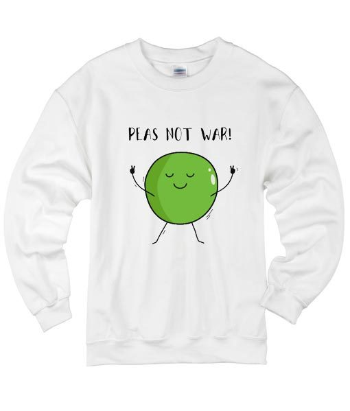 Peas Not War Peace Sweater