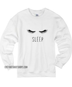 Eye Lashes Sleep Sweater