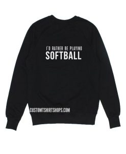 Softball Mom Funny Sweatshirt