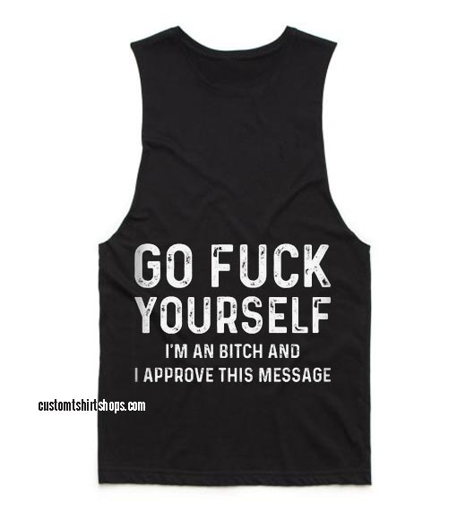 A Bitch Approve This Message Funny Summer and Workout Tank top