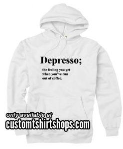 Depresso Definition Hoodies