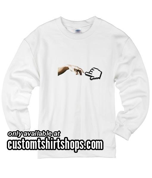 Hands Digital funny Sweatshirts