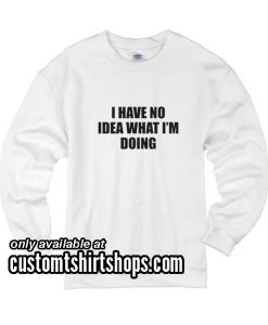 I Have No Idea What I'm Doing funny Sweatshirts