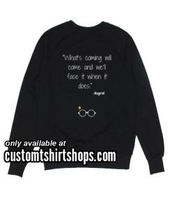 What's Coming Will Come And We'll Face it When it Does Hagrid funny Sweatshirts