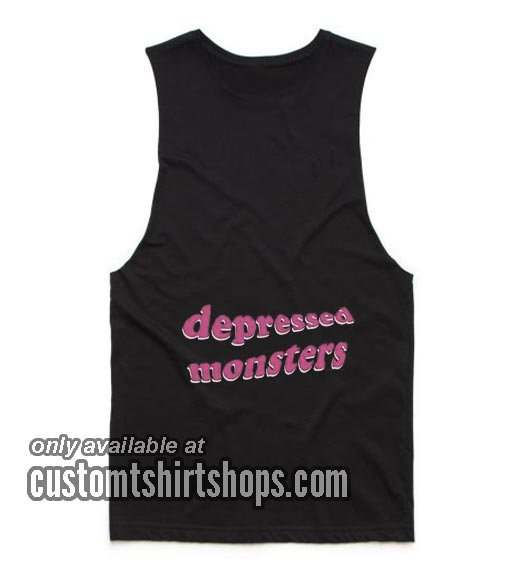 Depressed Monsters Funny Tank top