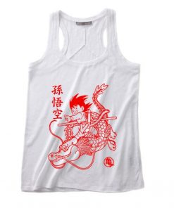 Son Goku Red Tank top