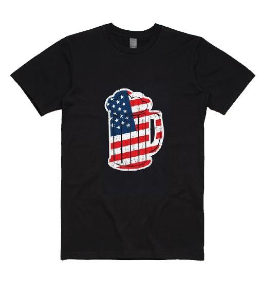 USA Beer Mug Tshirt Funny 4th Of July T-Shirts