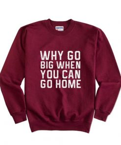 Why Go Big When You Can Go Home Sweatshirts