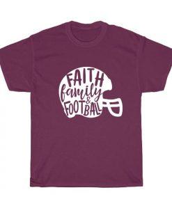 Faith Family and Football Short Sleeve Unisex T-Shirts