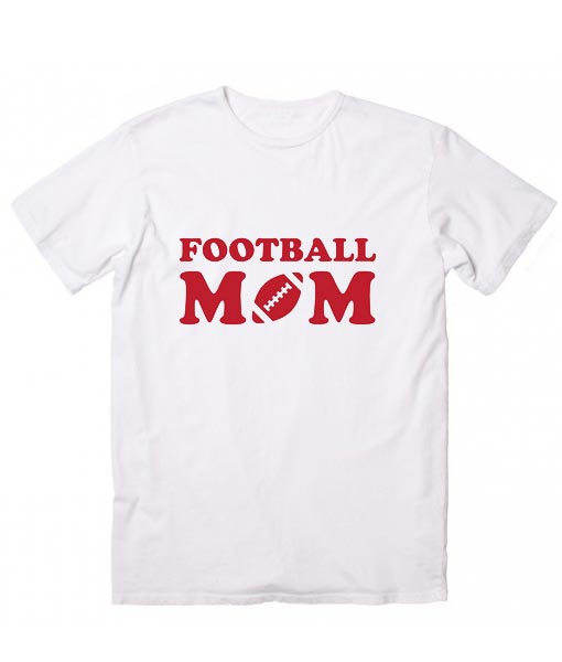 Football Mom Red Classic Short Sleeve Unisex T-Shirts