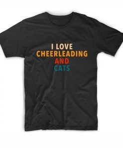 I Love Cheerleading And Cats Short Sleeve Unisex T-Shirts