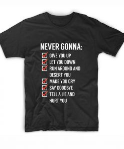 Rick Astley Never gonna give you Up Short Sleeve T-Shirts