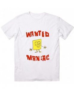 Sponge Bob Wanted Maniac Short Sleeve T-Shirts